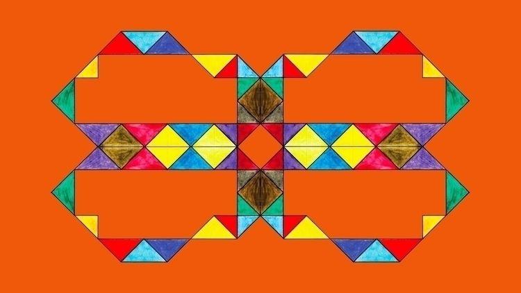 Reflective Triangles Orange Dig - istvanocztos   ello