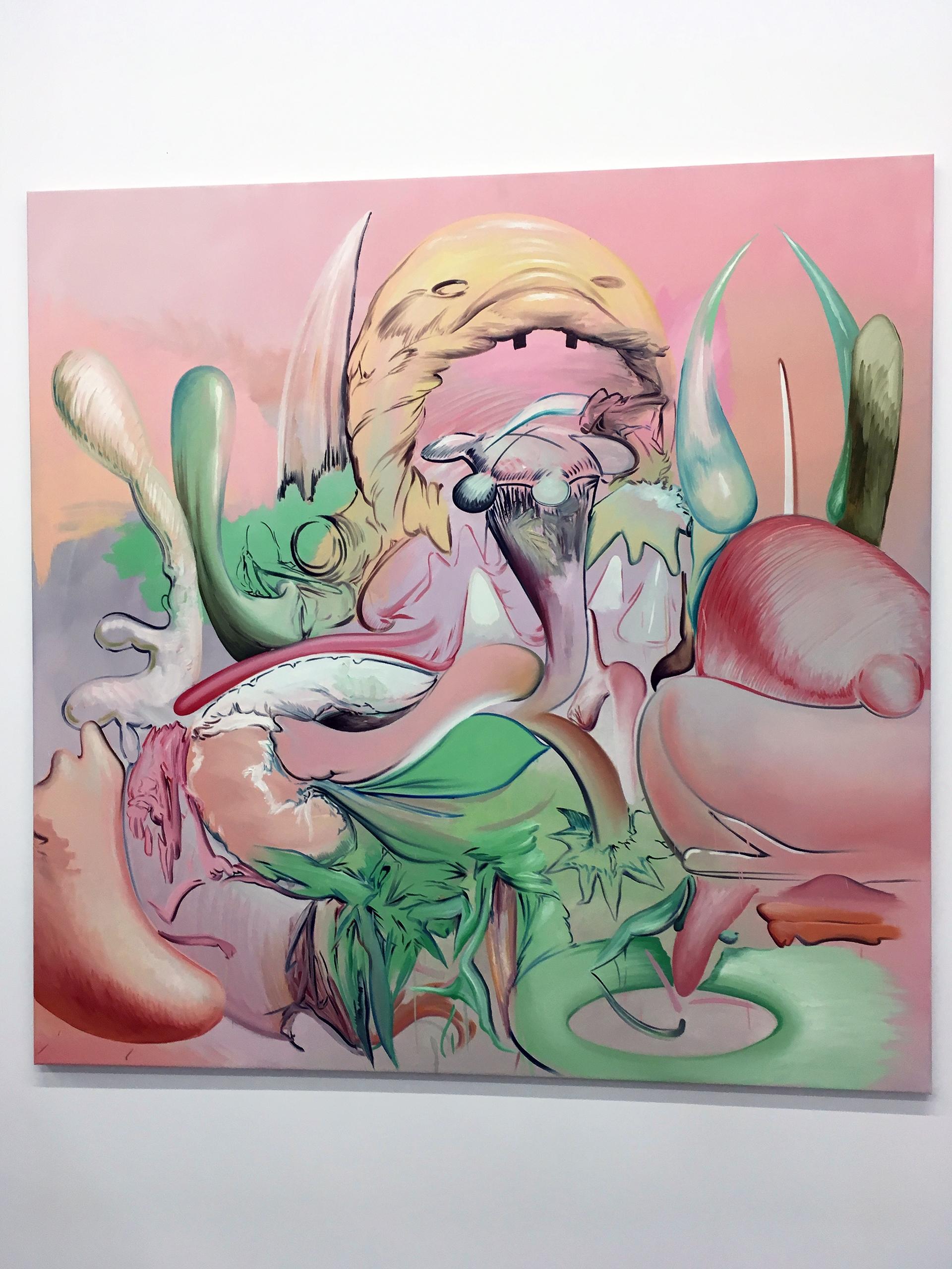 Zdjęcie przedstawia bardzo kolorowy obraz artysty.