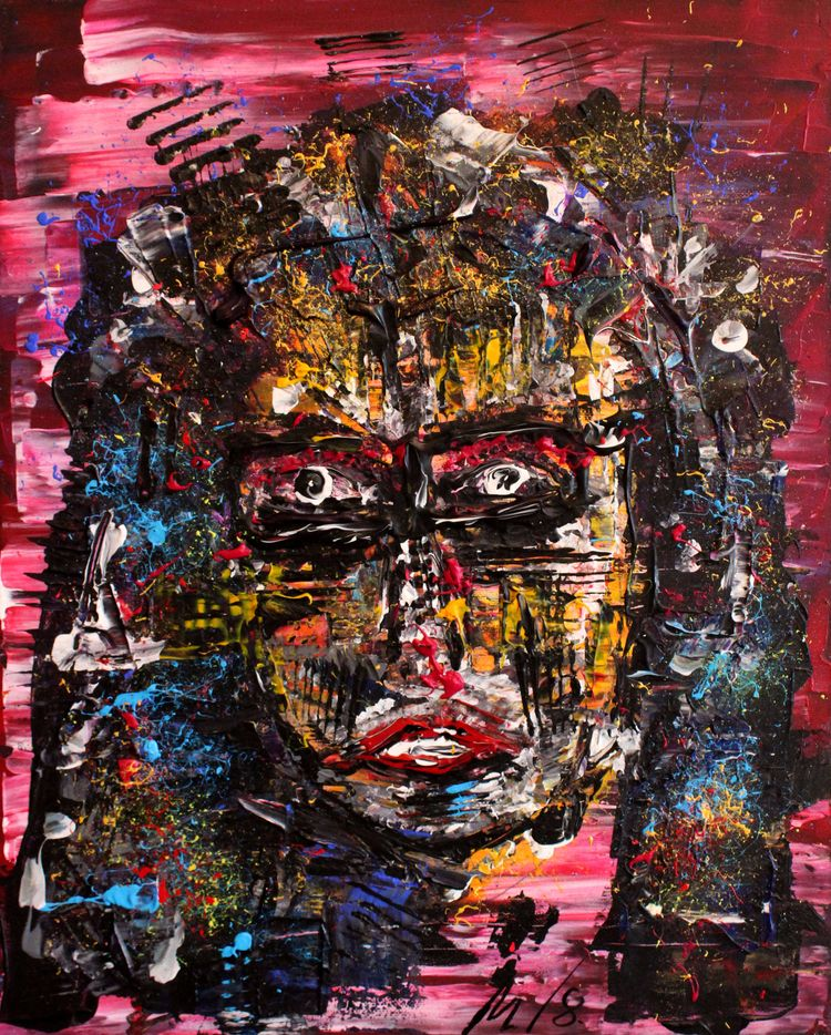 Thoughtful girl Acrylic Canvas - gatomontaner | ello