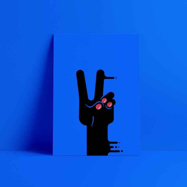 peace / paz - illustration, artwork - gnborges | ello