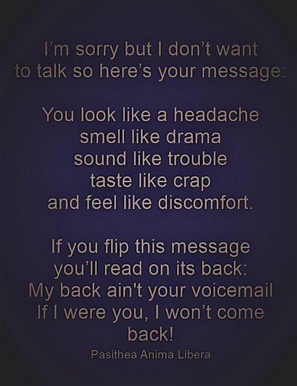 Ventastic Sarcastic talk messag - pasitheaanimalibera | ello