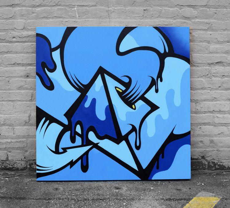True Blue // Acrylic aerosol ca - mattcorrado | ello