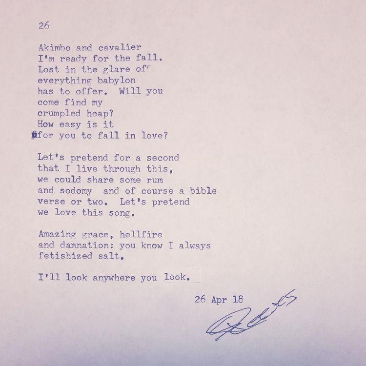 napowrimo, napowrimo2018, poetrymonth - sreeves | ello