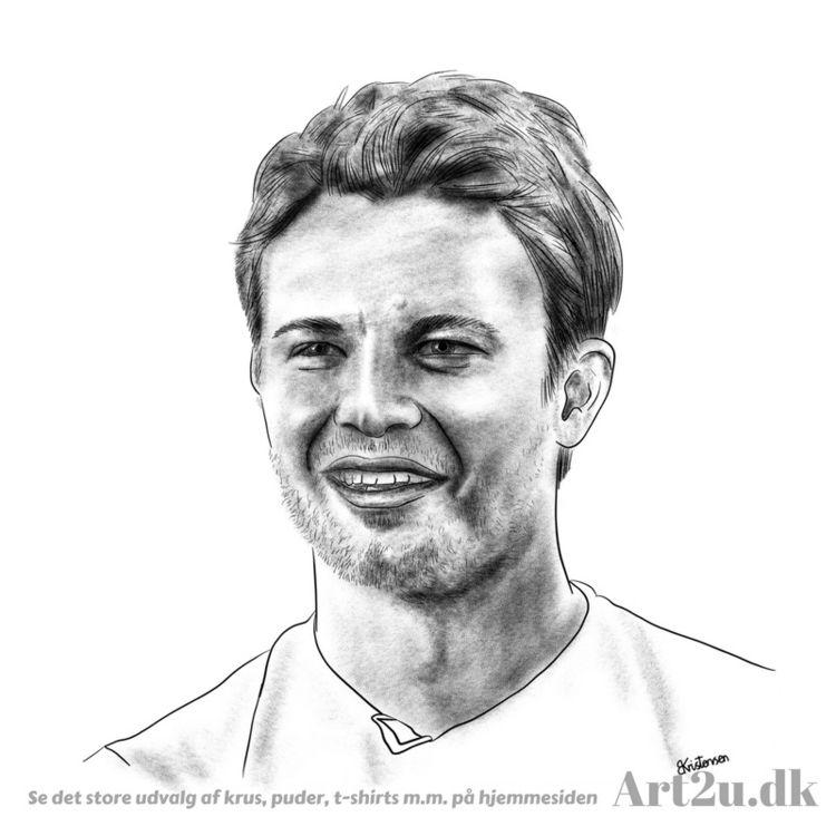 Pen Ink drawing Art2u.dk - racerdriver - art2u | ello