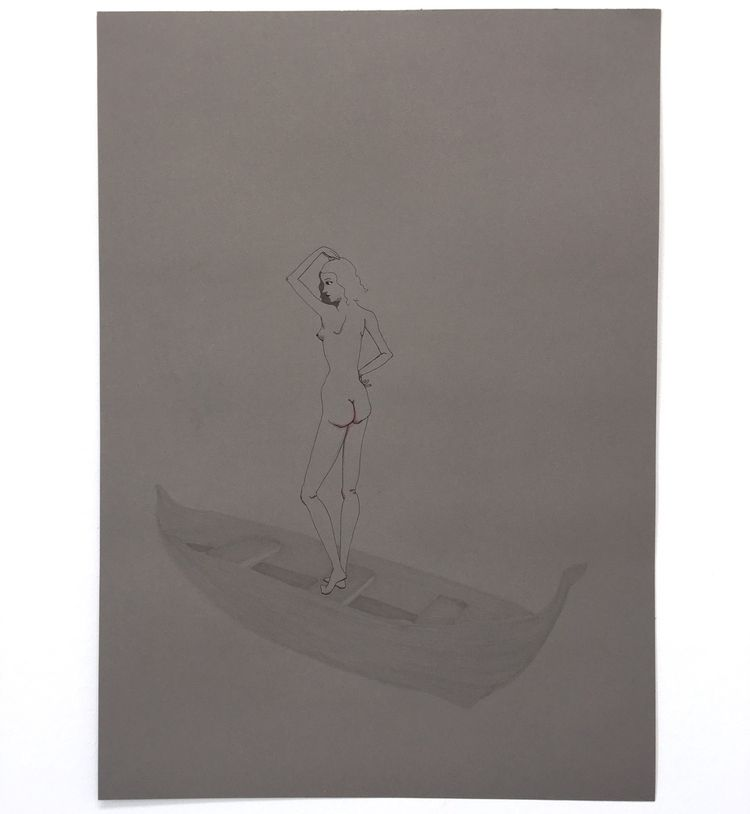 boat dreams 4 - kunst, art, drawing - lorettamae | ello