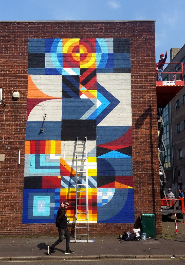 Shot week Contrast mural festiv - shaneomalleyart | ello