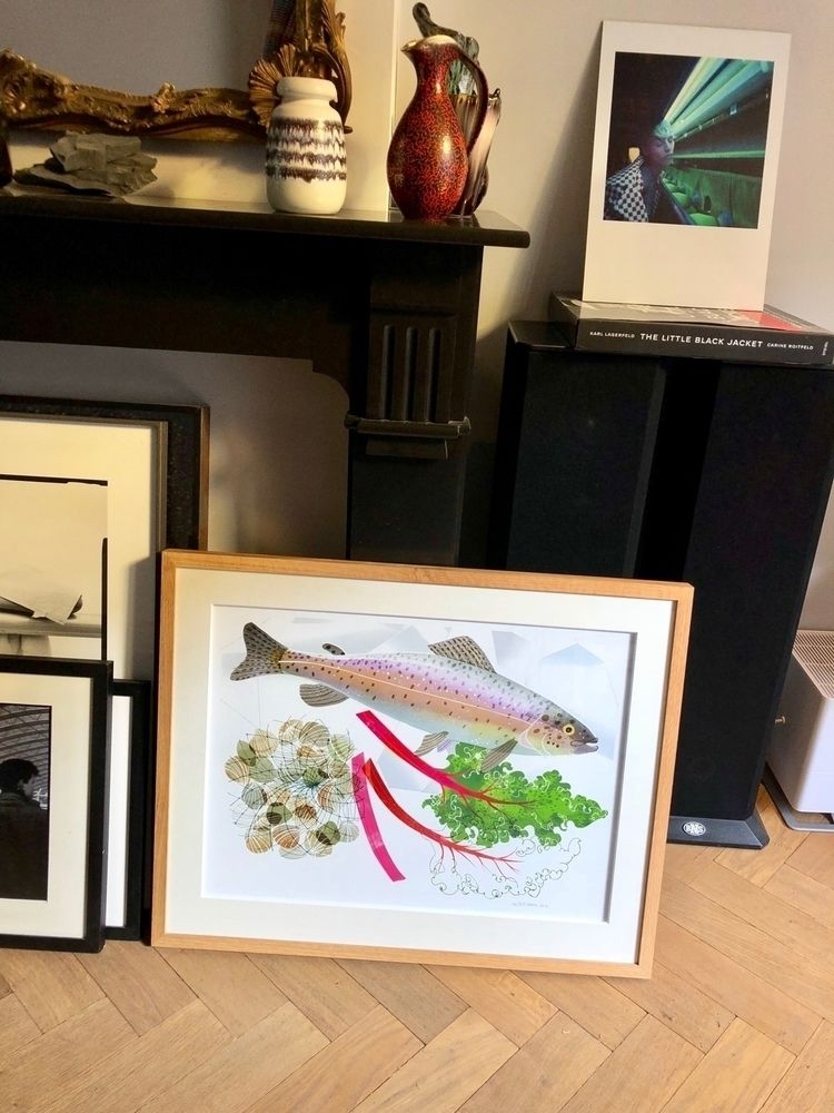 Trout artprint happy home - studiogarcia - studiogarcia | ello