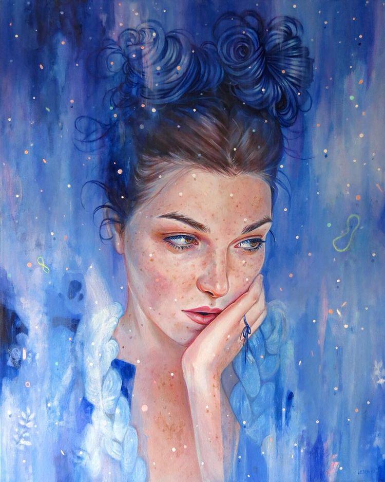 Feeling Blue Edith Lebeau - artwxrk - artwxrk | ello