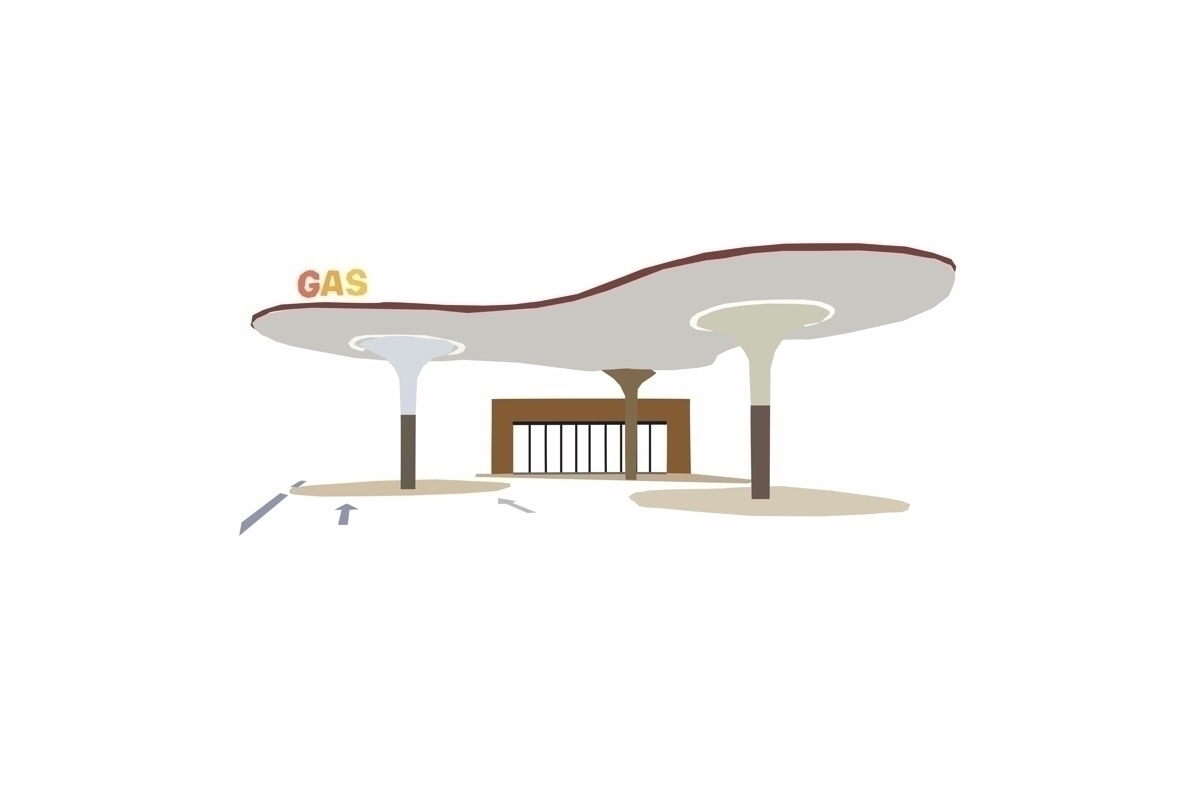 Gas Stations - Illustration, gasstation - sophieillustration | ello