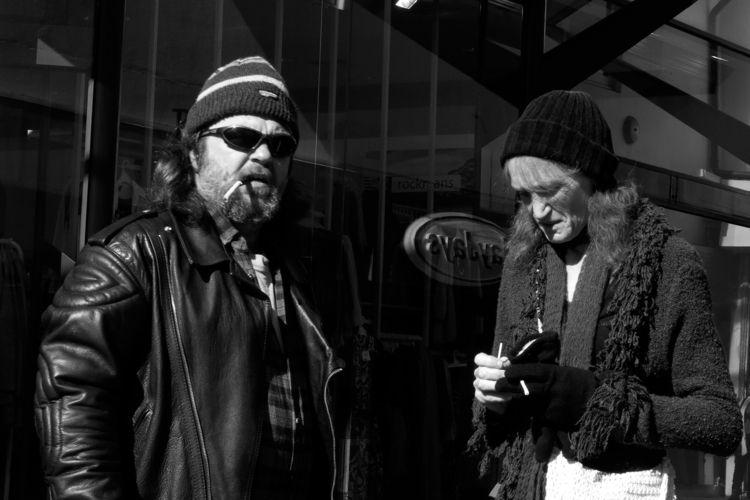 Cigarette Break  - streetphotography - michaelfinder   ello
