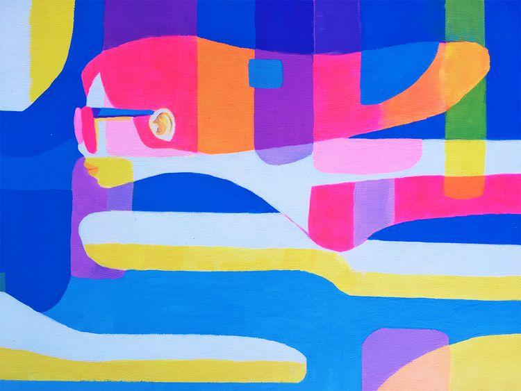 Roving Medium: Acrylic Size:  - painting - joysuke | ello