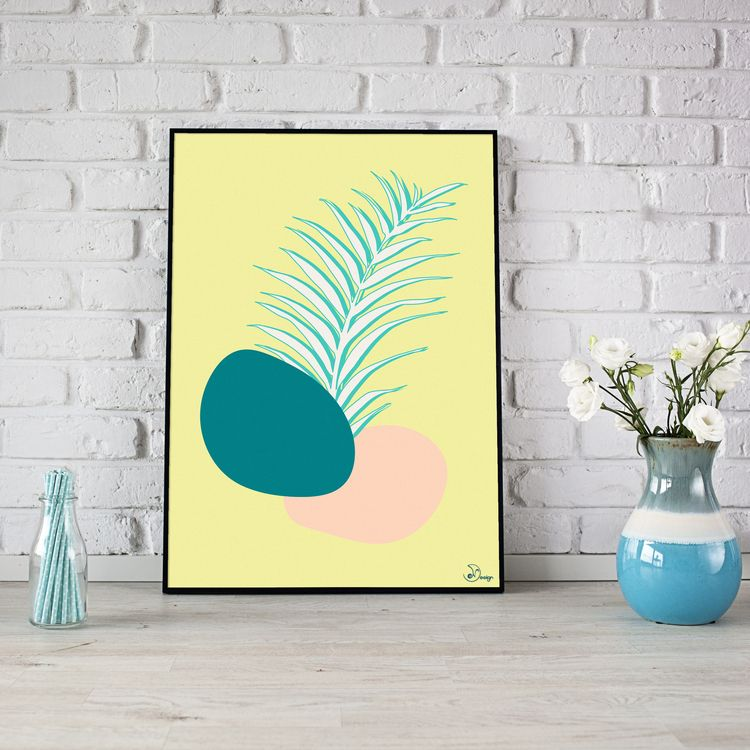Spring Palm Plam leaf shapes. M - designdn | ello