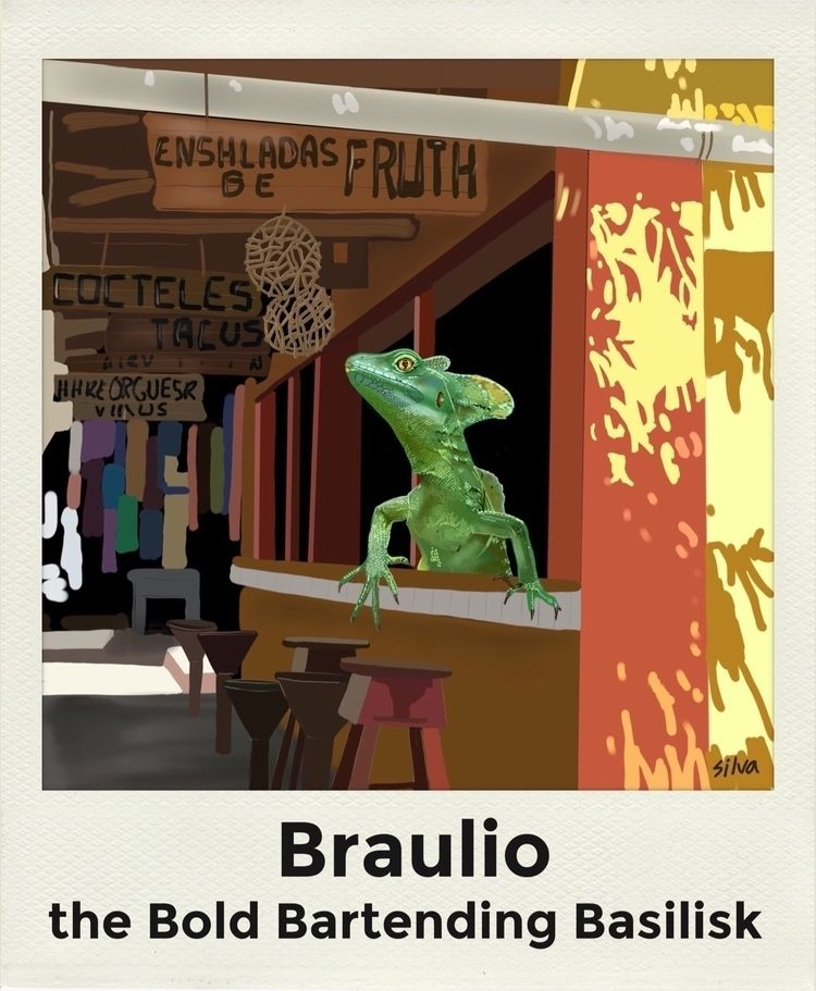 reptiles fun draw meet Braulio  - nightrav3n | ello