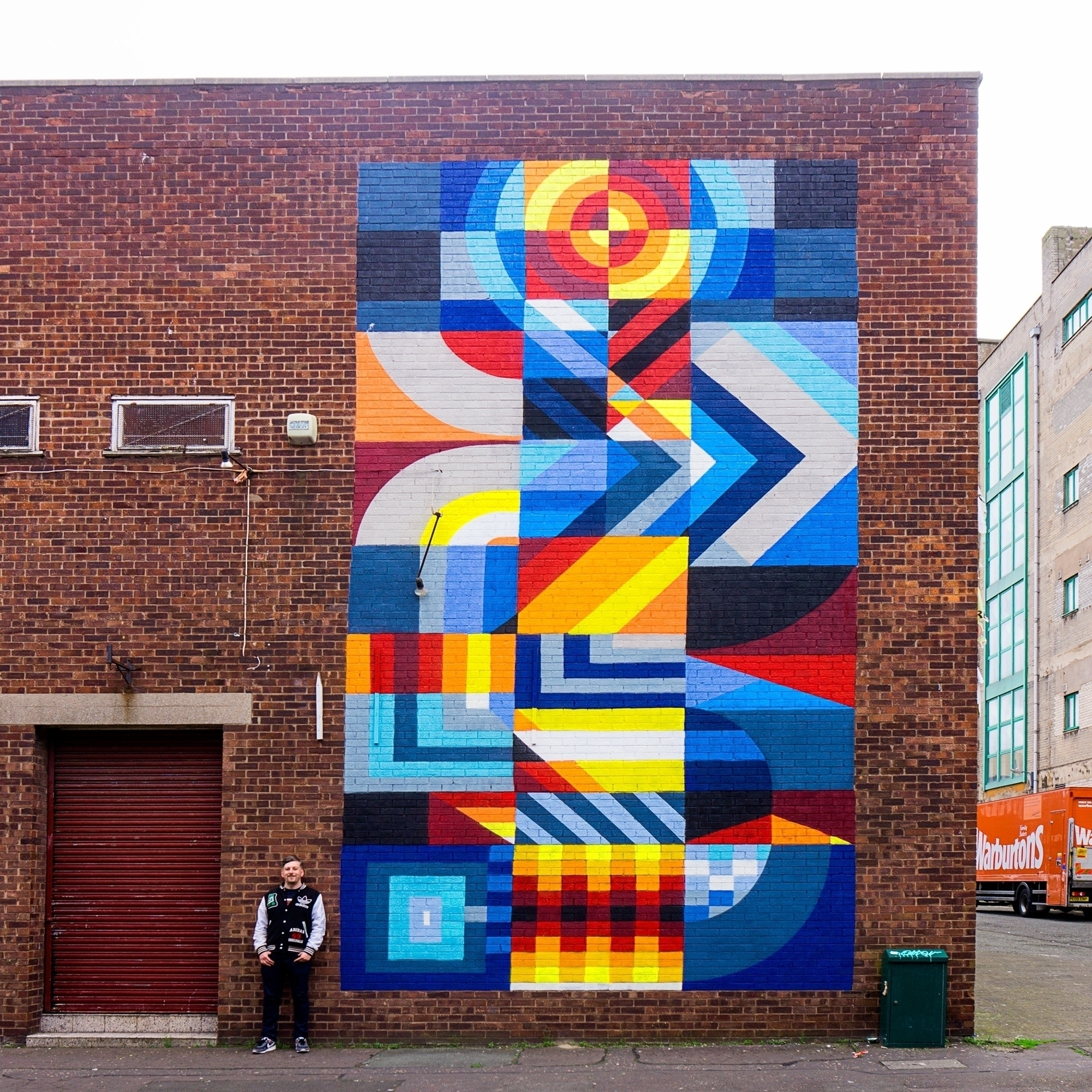 Finished mural painted contrast - shaneomalleyart | ello