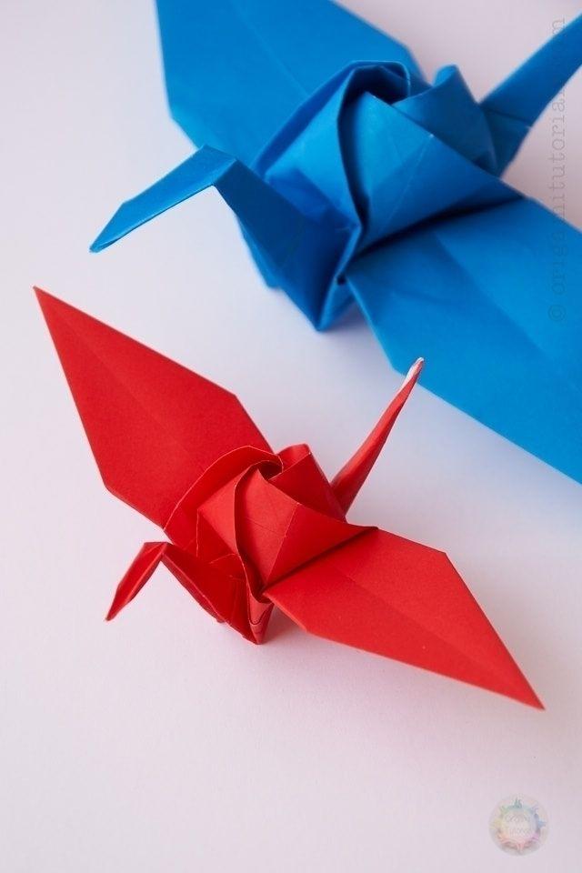 Origami Rose Crane Design: Sato - origamifolding | ello