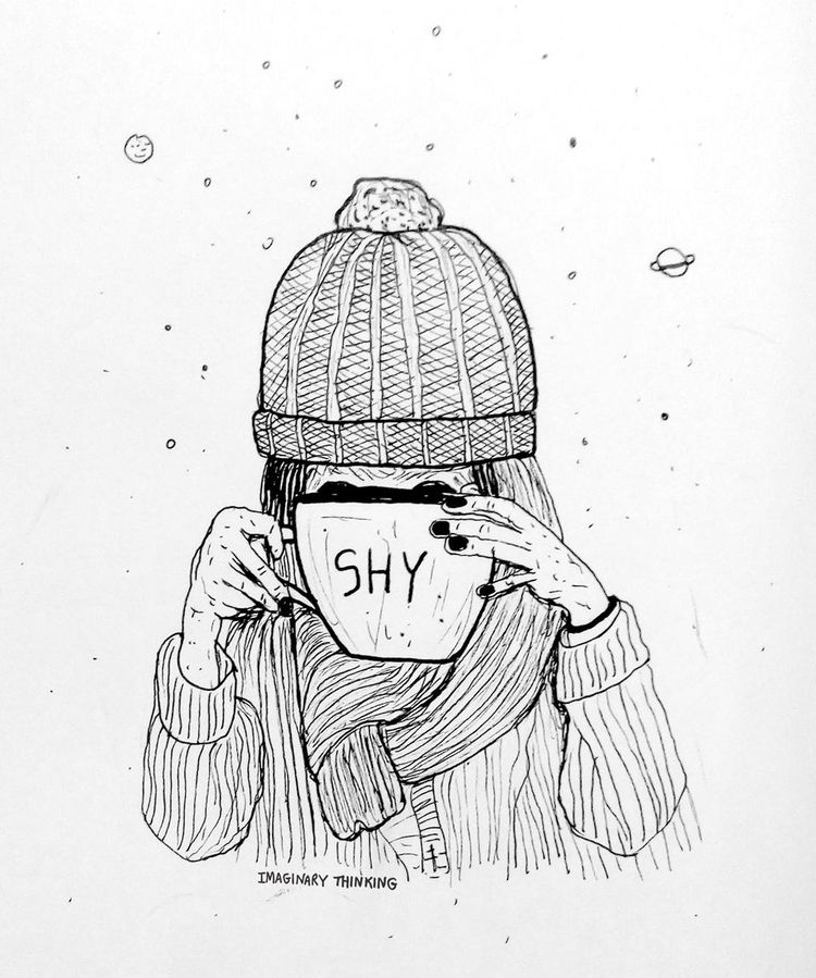 shy girl likes big bowls tea. D - imaginarythinking | ello