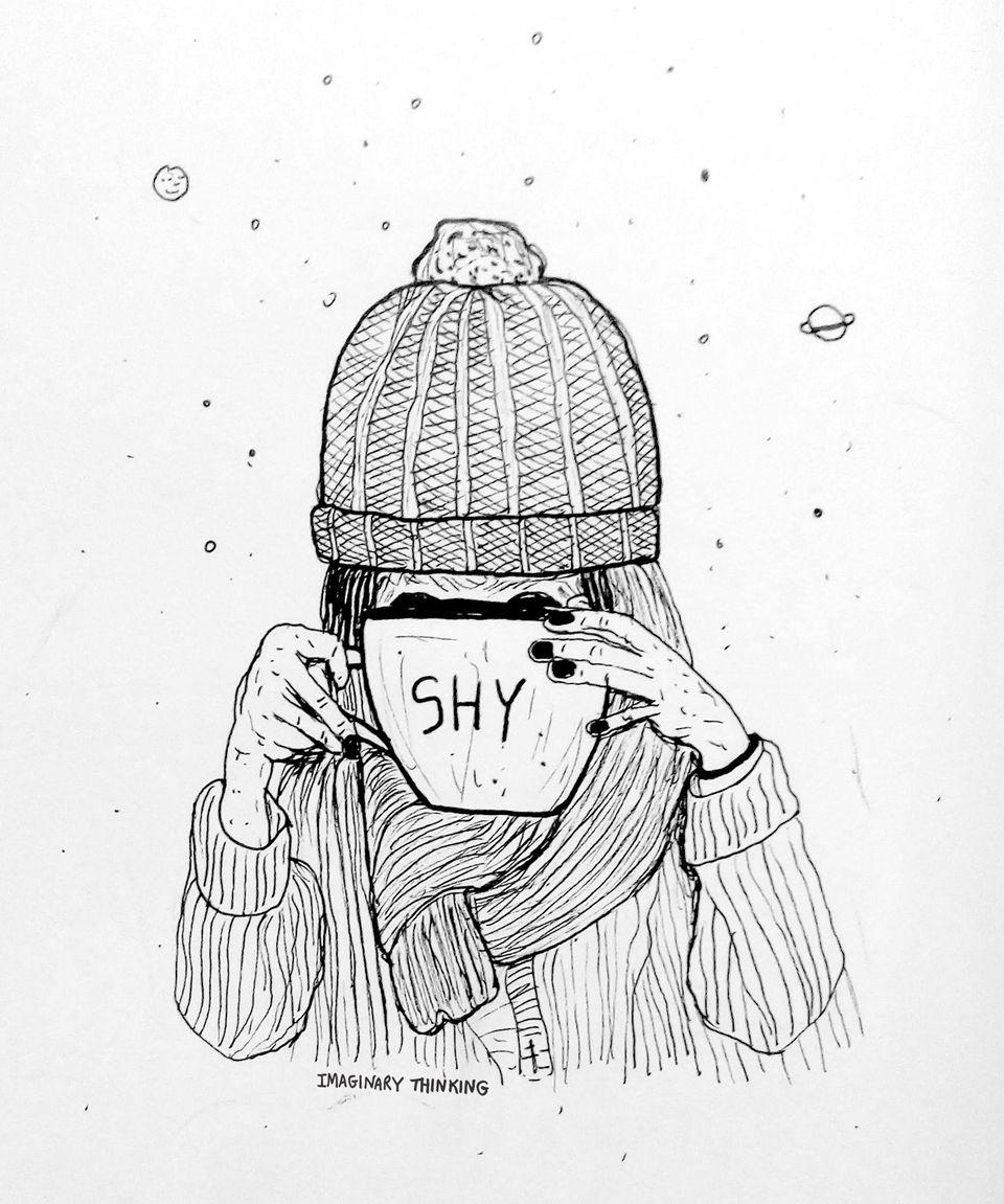 shy girl likes big bowls tea. D - imaginarythinking | ello