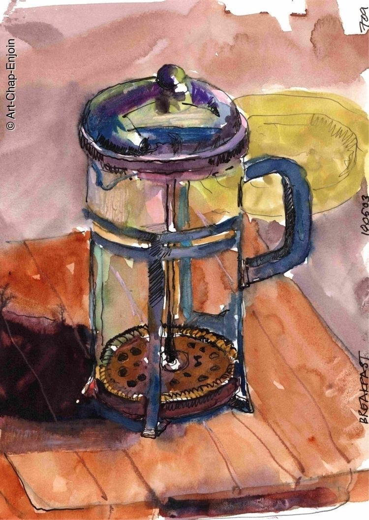 709 - Breakfast sketch day Dood - artchapenjoin   ello