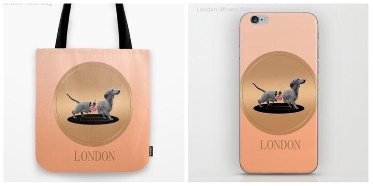 LONDON-sausage dog design - london - trinkl | ello
