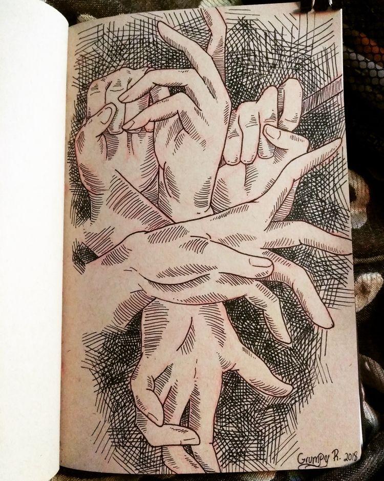 hand study bad hands - artistproblems - grumpyraven | ello