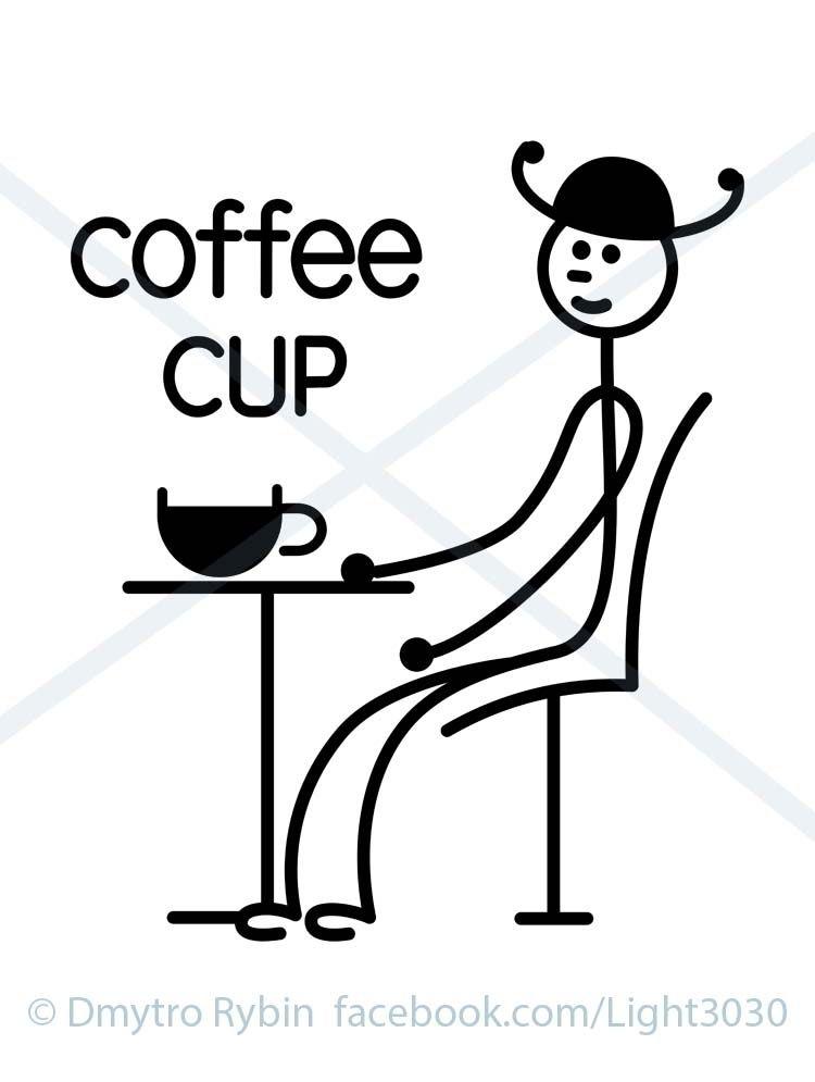 Man cup coffee - man, cafe, minimalism - dmytroua | ello