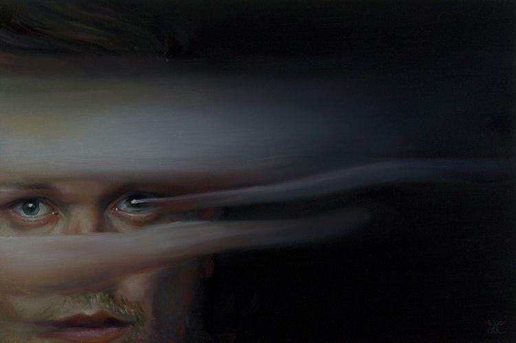 'Linear' 2018 oil canvas board  - darren_cranmer_art   ello