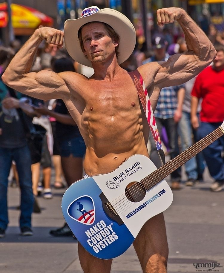shot appears card Naked Cowboy  - ymmijiz | ello