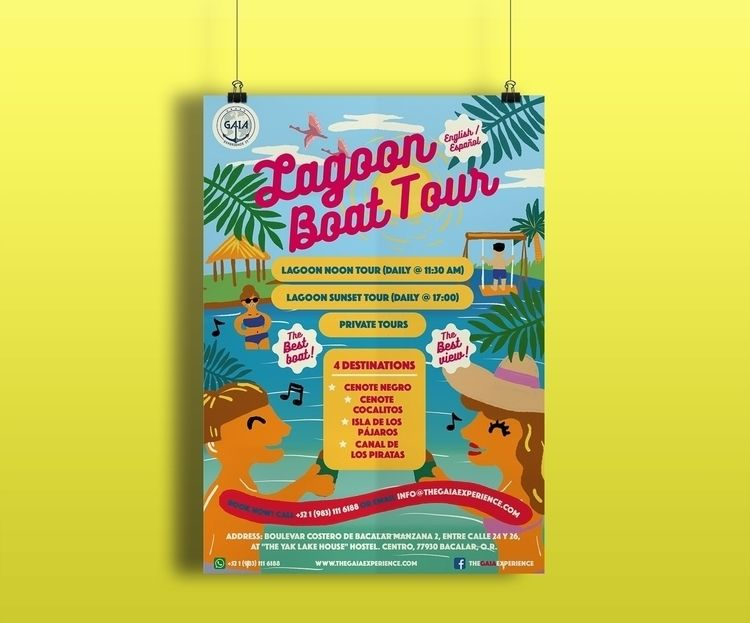 tropical colourful poster lagoo - mickeygogo | ello