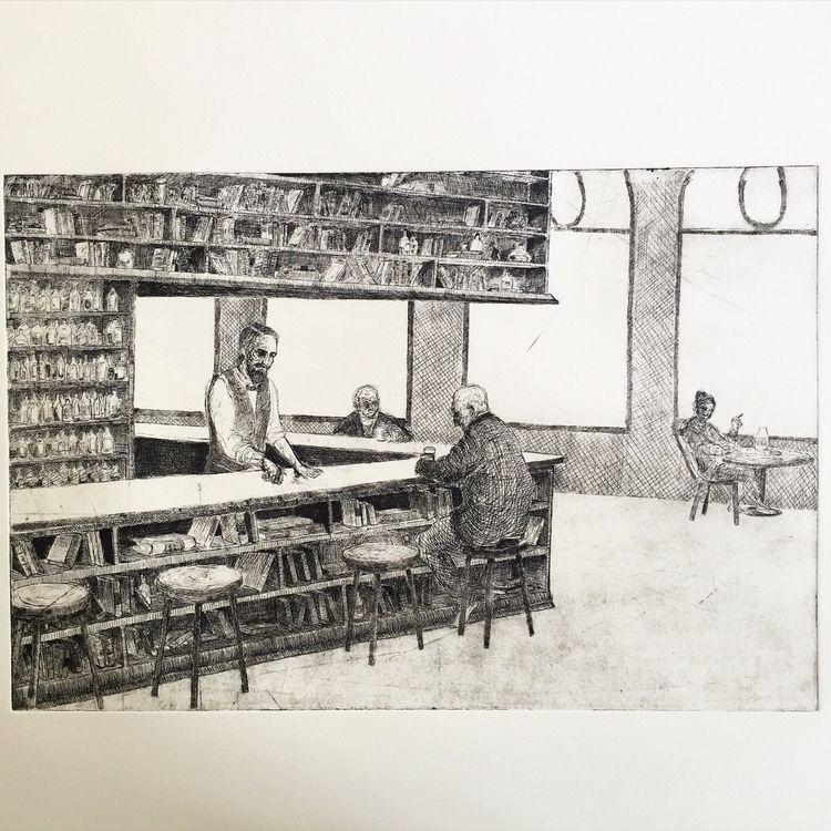 etching - print, crosshatching, drawing - yuliavirko | ello