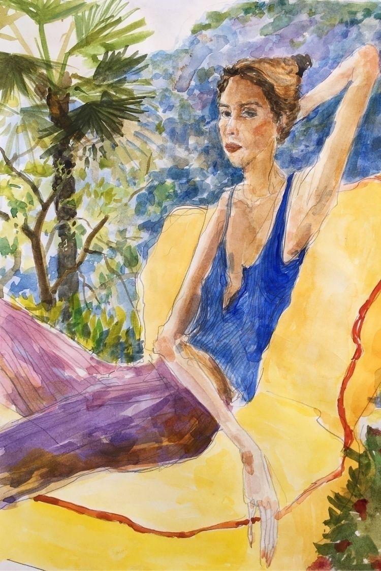 quick watercolour portrait sis - yuliavirko   ello
