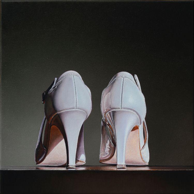 Shoes 3, 2018, 40 × cm, oil can - christopheberle   ello