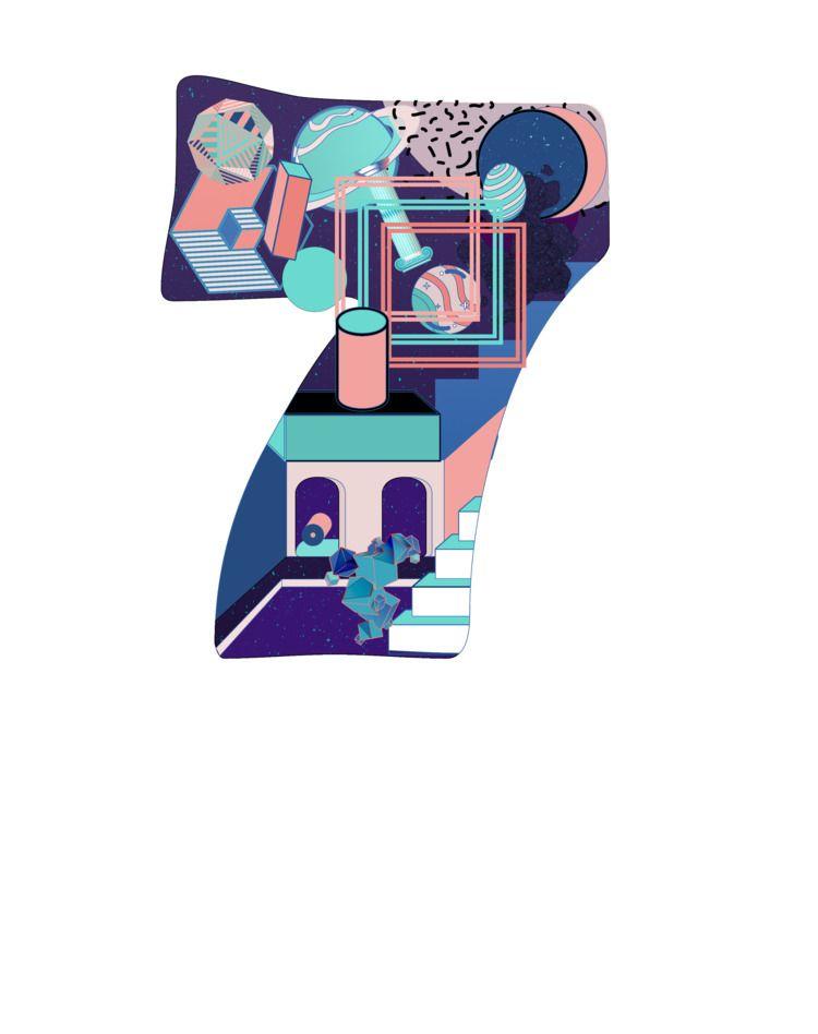Number 7 , series Instagram - 36daysoftype - nancykouta | ello
