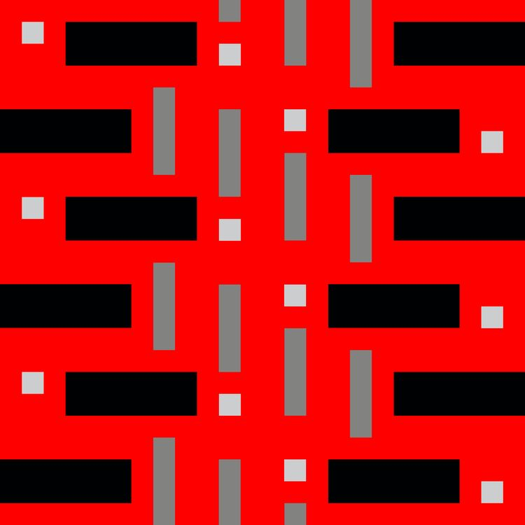 Pattern Squares Red Digital Wor - istvanocztos | ello