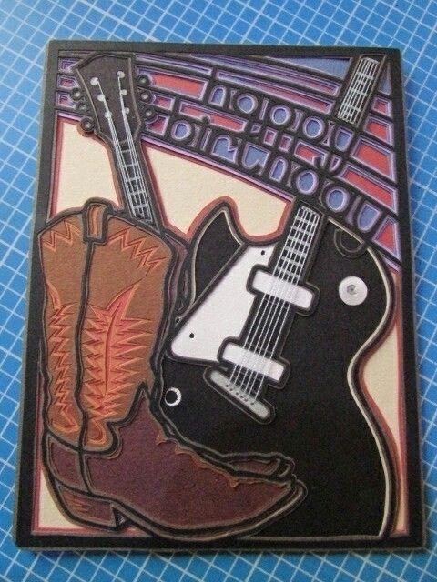 cowboy boots guitar - commissionedwork - ceskabob | ello