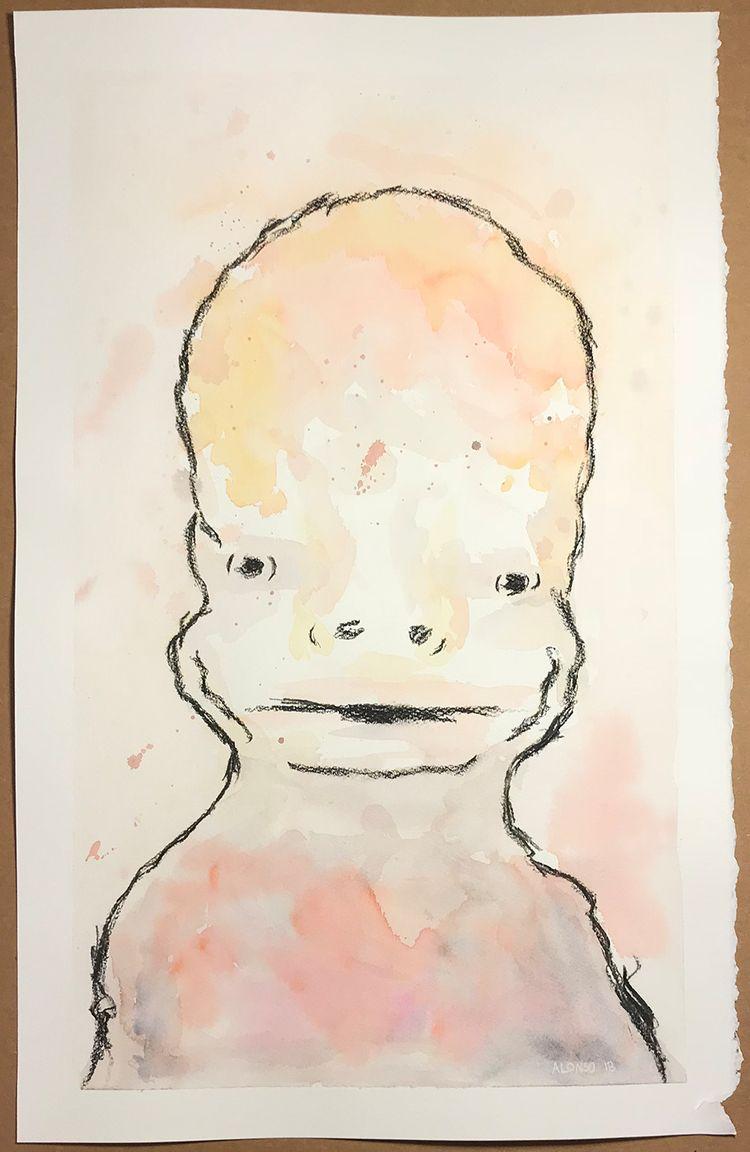Portrait 14x22 - 2., watercolor - marlaburse | ello