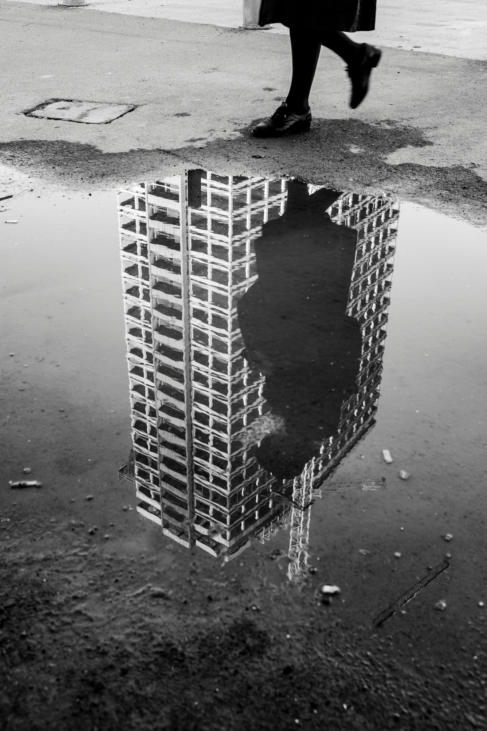 Puddles buildings - streetphotography - jinghels | ello