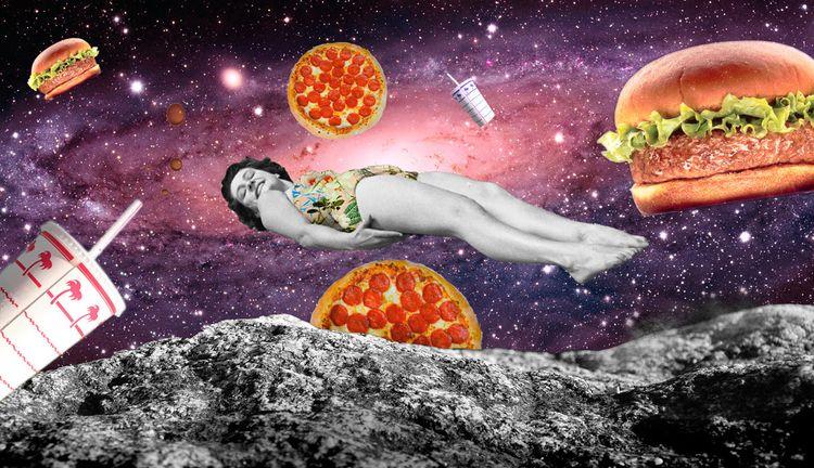 love salads kill fast food - collage - vypunto | ello