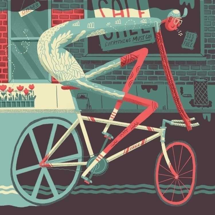Spring Cycling  - illustration, editorial - jefflowryillo | ello