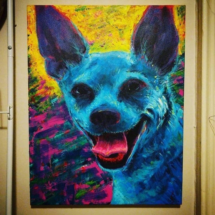 friend Arrow acrylics canvas - goldenacrylics - darkharvester | ello
