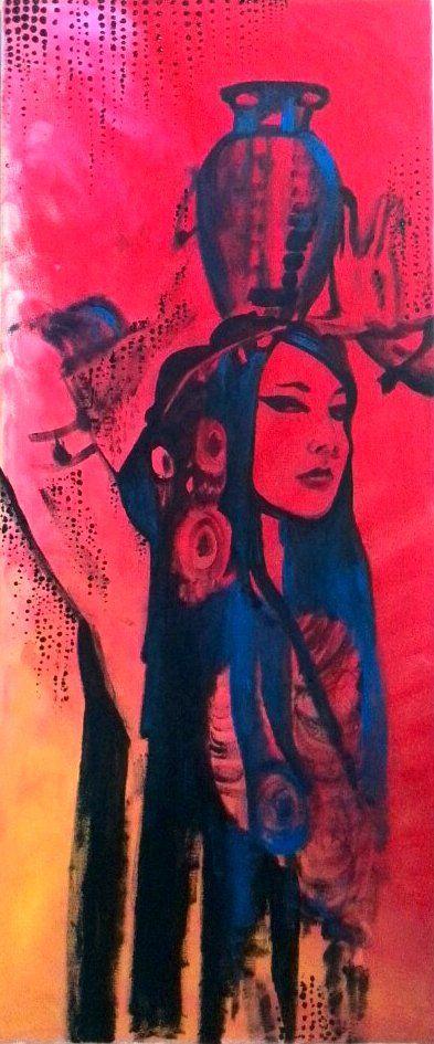 Popart gypsy (acrylics canvas - ello - katharinawozny | ello