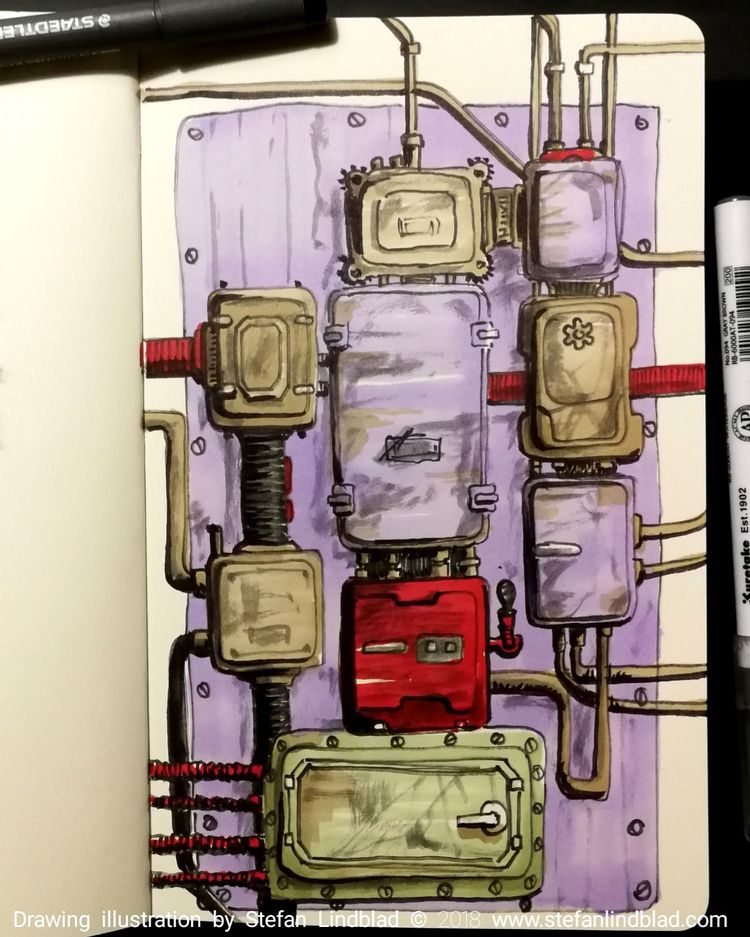 Drawing electricity boxes Hotel - stefanlindblad | ello