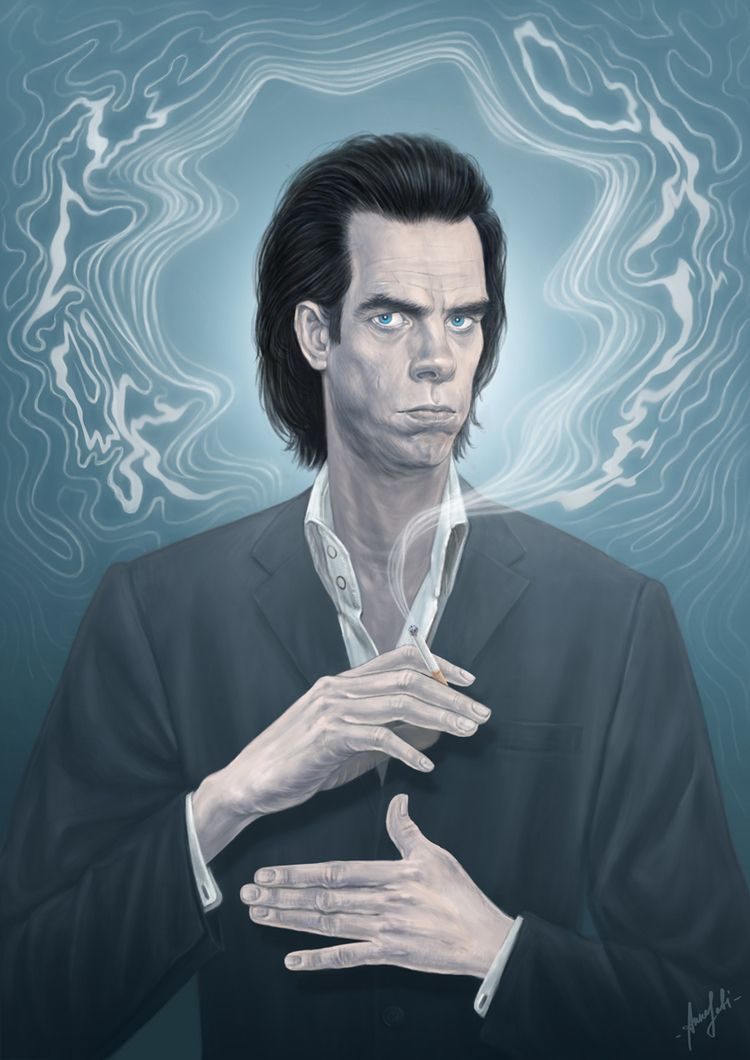 ' Nick Cave digital artwork con - annaorca | ello