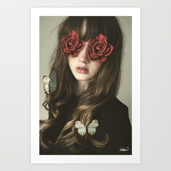 Girl Flower Eyes / Photomanipul - lostanaw | ello