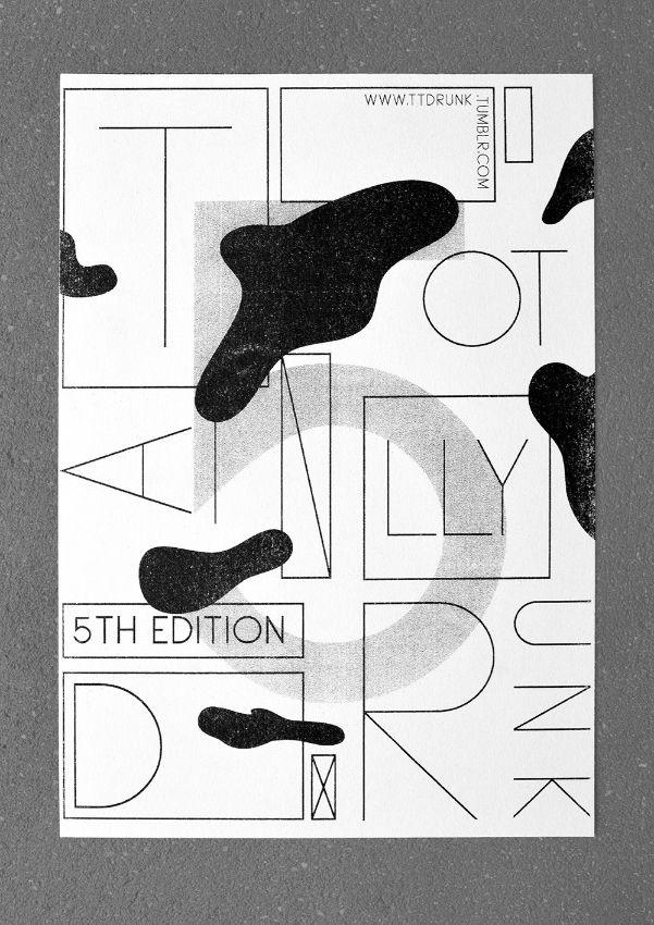 Riso print Totally Drunk poster - jeromebizien | ello