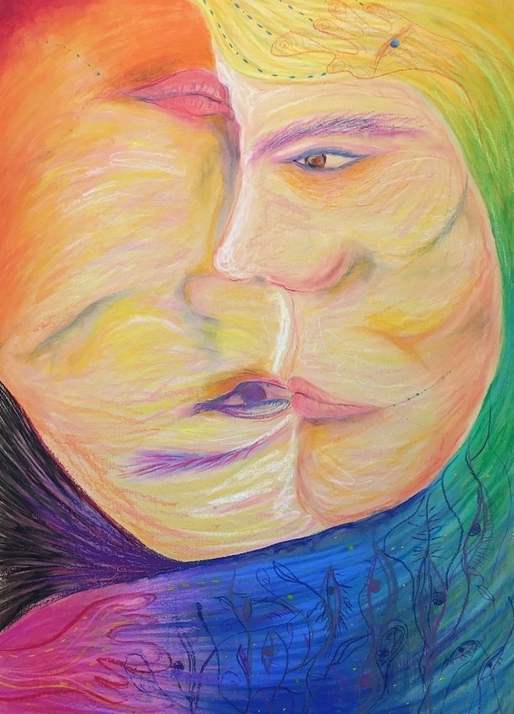portrait- smile crayon paper 10 - ingerchen | ello