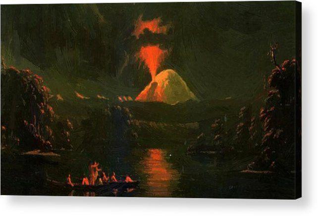 Mount St Helens Erupting Night  - pixbreak   ello