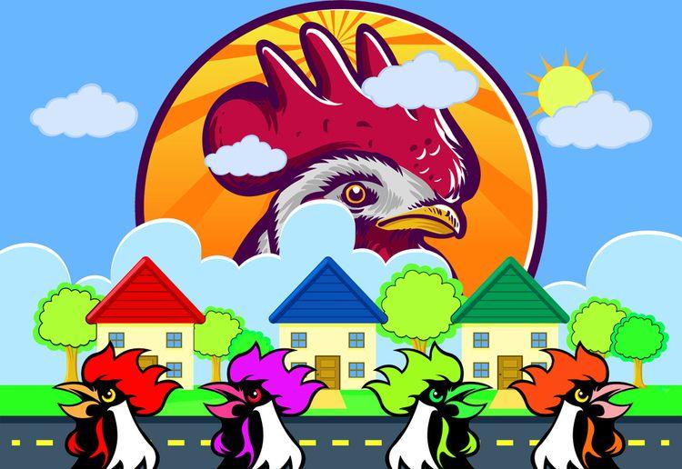 Chickenville Conceptual Colorfo - stevesherrell | ello