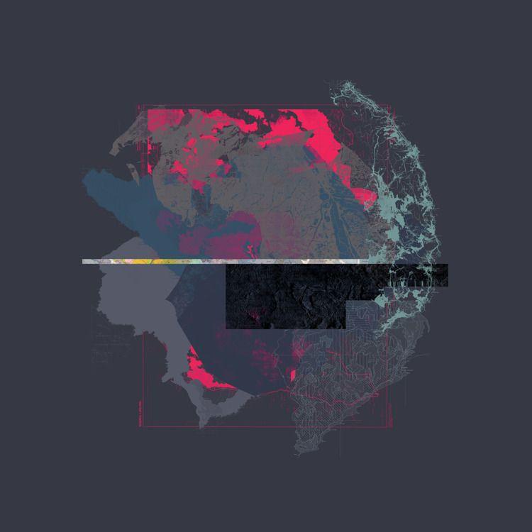Map Series (100x100 cm - elloillustrations - azerty | ello