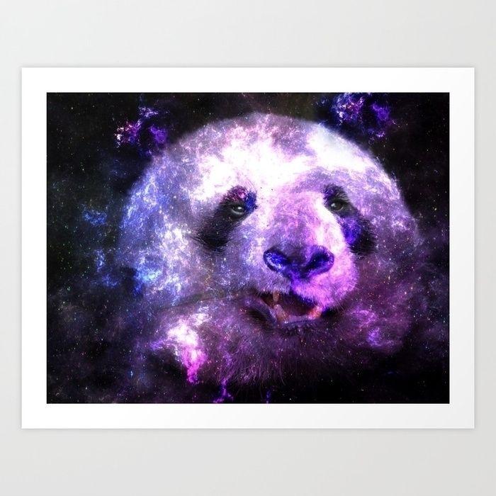Colorful Galaxy Panda Design - panda - lmona   ello