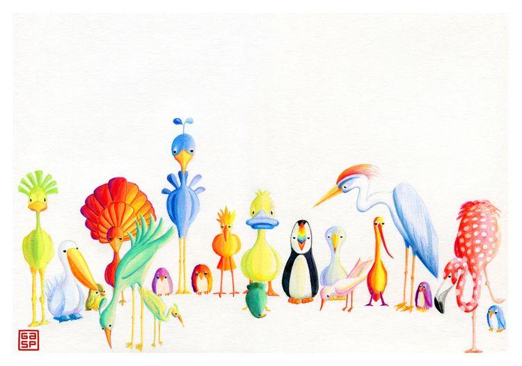 Birds, birds, birds. Color penc - juanjogasp | ello